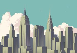 Vector of the famous new york skyline