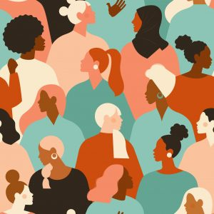 A illustrated image of diverse women, header image
