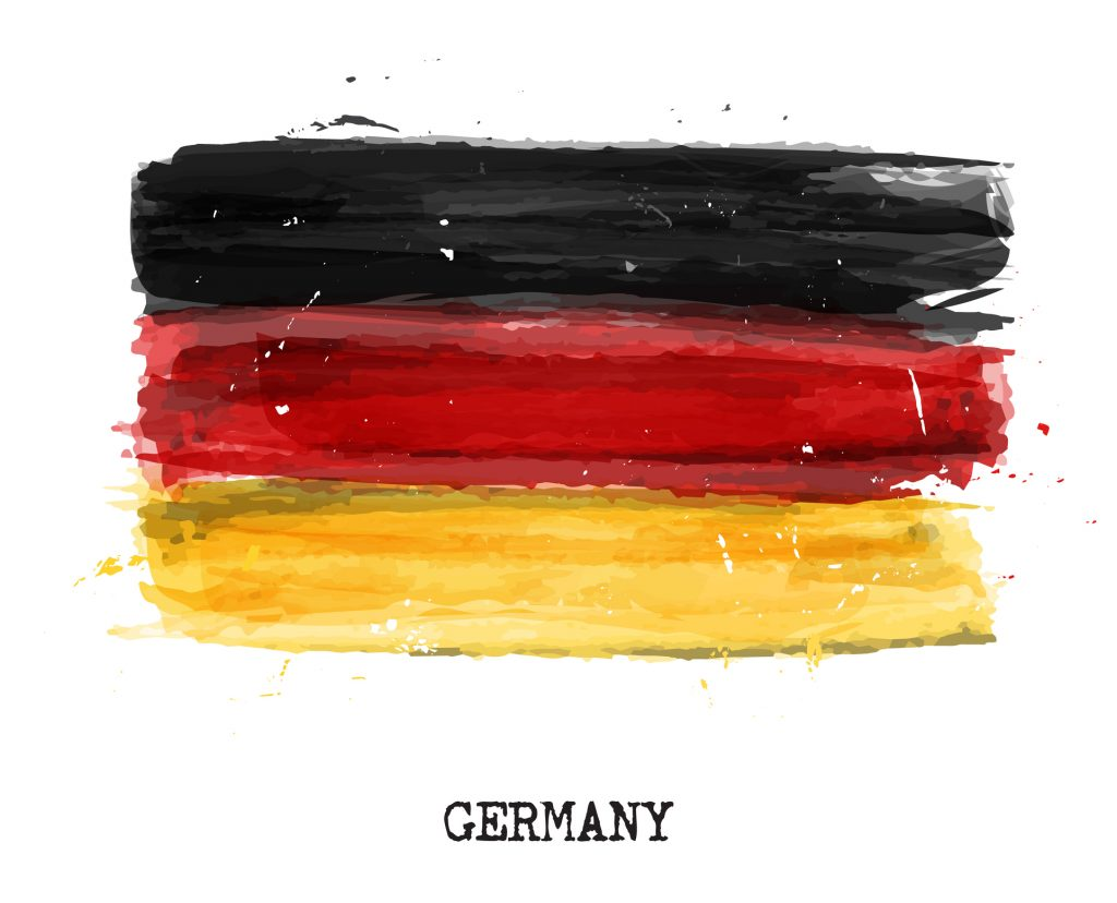 watercolor german flag, blog header for medical cannabis in germany